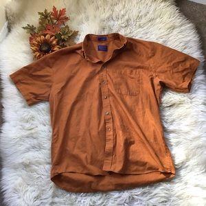 Men's Pendleton Burn Orange Button Down